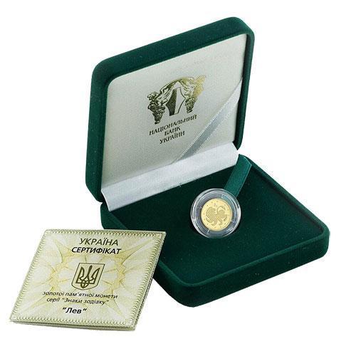 Золотые монеты знаков зодиака